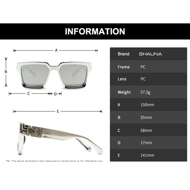 SHAUNA Retro Square Sunglasses Women Brand Designer Summer Styles Candy Colors Fashion Silver Mirror Shades Men UV400 5