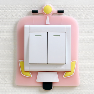 Image 5 - Cute Cartoon 3D Wall Silicon on Switch Stickers Children Luminous Switch Light  Home Decoration