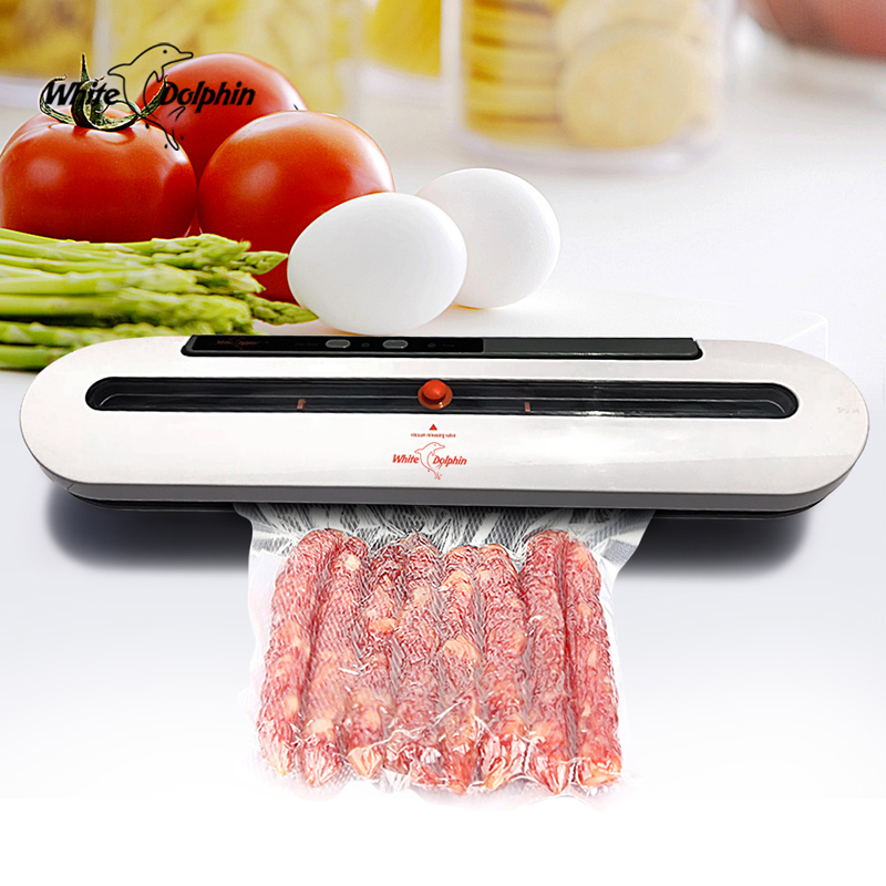 Household Vacuum Food Sealer For Kitchen Food Fresh Long Keeping Automatic Vacuum Sealer Packaging Machine Including 10pcs Bags