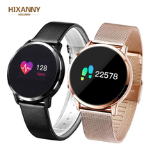 New Q8 Q9 fashion Smart Watch Fashion Electronics Men Women Waterproof Sport Tracker Fitness Bracelet Smartwatch Wearable Device diggro q8 oled bluetooth fitness smart watch stainless steel waterproof wearable device smartwatch wristwatch men women tracker