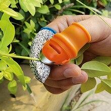 New Silicone Thumb Knife Finger Protector Vegetable Harvesting Knife Plant Blade Scissors Separator Cutting Rings Garden Gloves