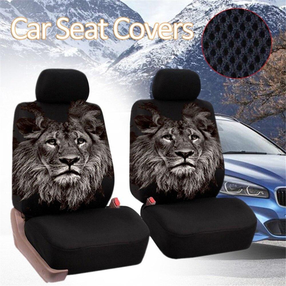 Universal Autositzbez/üge 4 Teile//satz Mesh Schwamm Front Cover Set Innen Zubeh/ör f/ür Auto//Lkw//Van