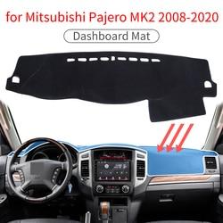 Esteira do traço para mitsubishi pajero mk2 shogun anti-deslizamento esteira do painel capa almofada pára-sol dashmat proteger tapete traço acessórios almofada