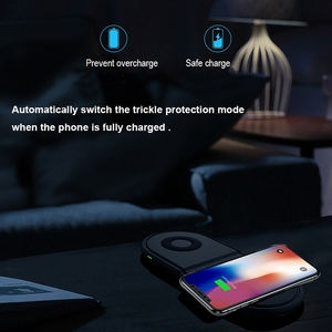 Image 5 - 2 In 1 Fast Wireless Charger PadสำหรับSamsung Galaxy BudsนาฬิกาActive Gear S3 S4กีฬาโทรศัพท์มือถือQIไร้สายชาร์จ