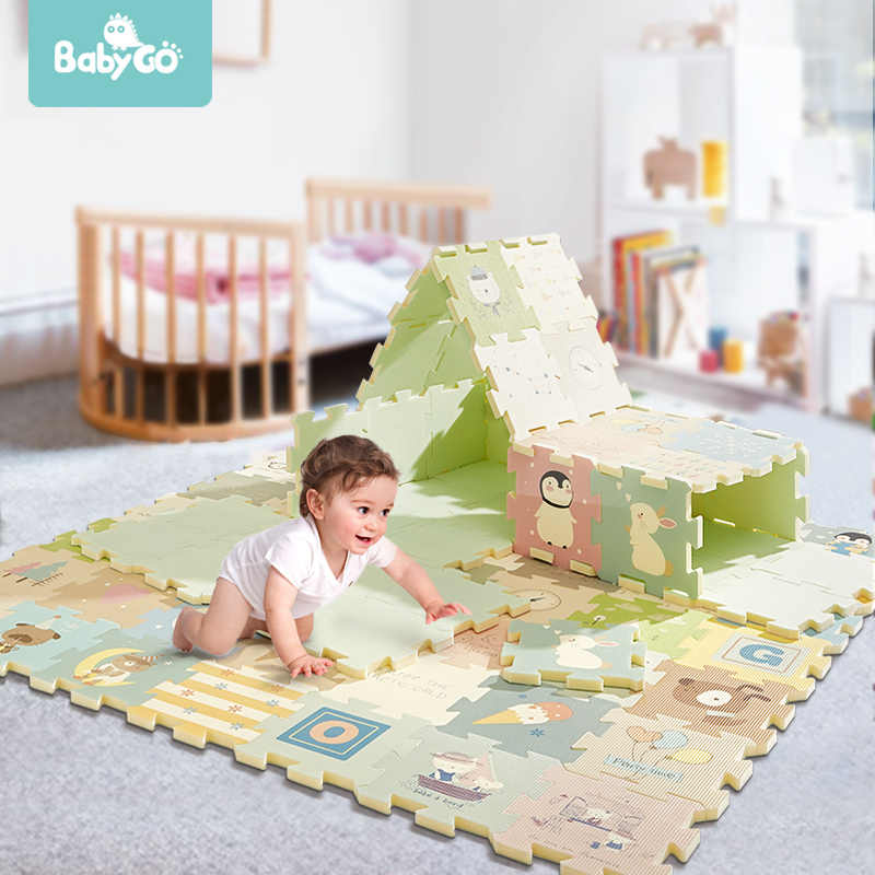 BabyGo 9pcs Del Bambino Di Puzzle Gioco Zerbino Schiuma XPE Impermeabile 82*82*2cm Ispessito Per Bambini Strisciando Pad soggiorno Attività Pavimento Zerbino