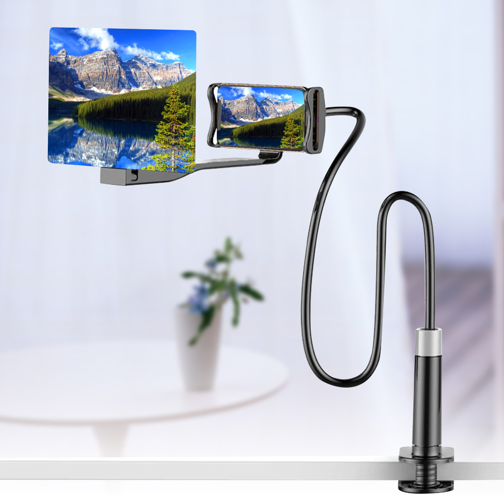 Mobile Phone HD Projection Bracket Screen Magnifier 360 Degree Adjustable 8/12 Inch For Home HSJ-19