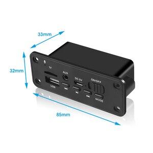 Image 3 - KEBIDU بلوتوث MP3 WMA فك مجلس وحدة صوت USB TF راديو لاسلكي استقبال FM تيار مستمر 5 فولت مشغل MP3 2x3 واط مكبر للصوت للسيارة