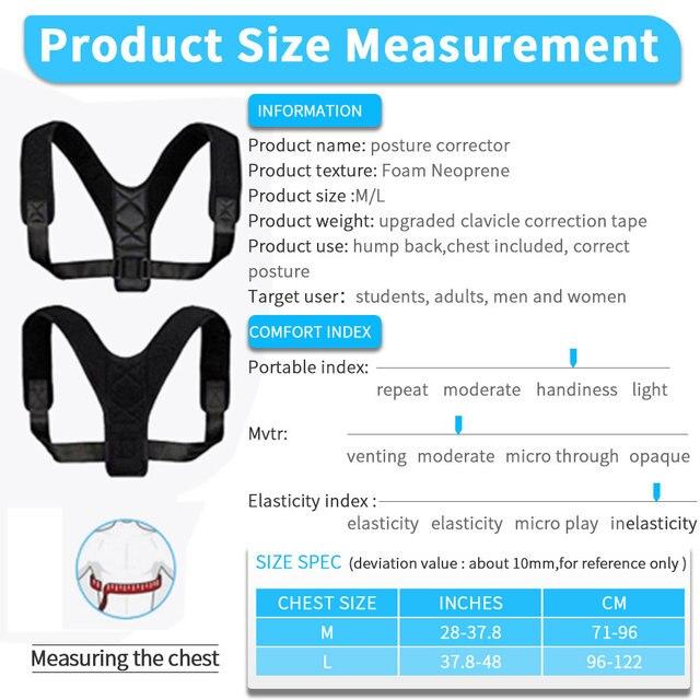 VIP DropShipping Medical Clavicle Posture Corrector Adult Children Back Support Belt Corset Orthopedic Brace Shoulder Correct 4