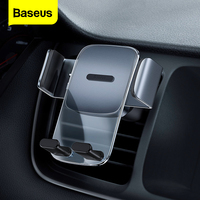 Baseus-Soporte de teléfono para coche Gravity, montaje Universal para ventilación de aire, GPS, móvil, para iPhone, Xiaomi, Samsung, Huawei, Samsung