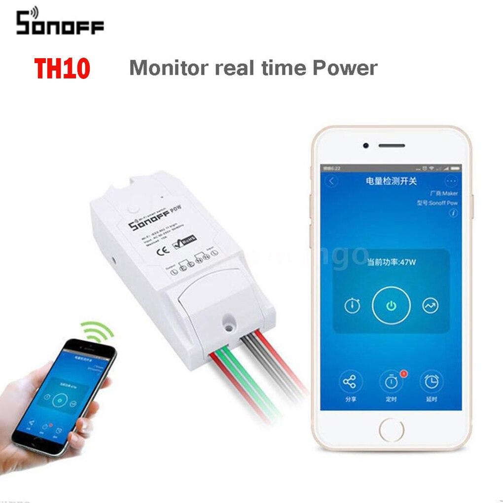 Sonoff Smart Home Sonoff TH10 WiFi Smart Switch 10A Temperature and Humidity Sensor Remote Controller