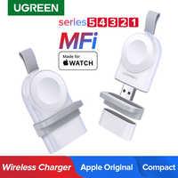 Ugreen carregador sem fio para apple assistir carregador série 5 4 3 2 1 portátil mfi usb carregador para apple 3 magnético de carregamento sem fio