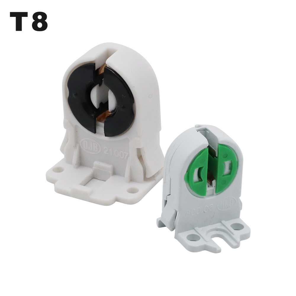 4pcs/lot T8 Lamp Holder 21.007 PBT Flame Retardant G13 Fluorescent Light Plastic Socket T4 T5 Lamp Base 50.008 For LED Tube