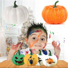 New Halloween Simulation Pumpkin Free shipping Holiday Party Decoration Graffiti Artificial Foods Vegetables