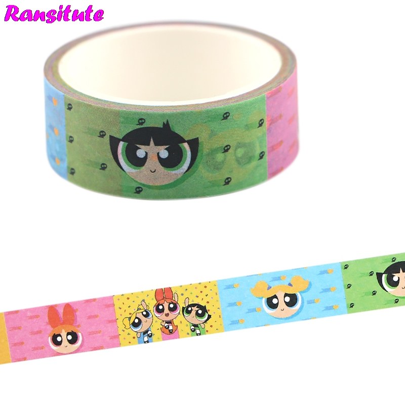 Ransitute Cartoon Cute Washi Tape Lace Masking Tape DIY Photo Album Decoration Tape Fashion Stationery Scrap Paper R733