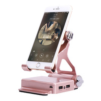 Charging Mobile Phone Stand Holder Powerbank Portable Adjustable Bluetooth Speaker EM88