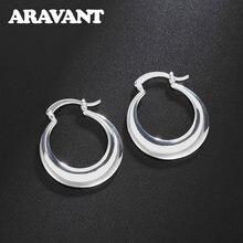 Женские серьги кольца с Луной из серебра 925 пробы модные свадебные