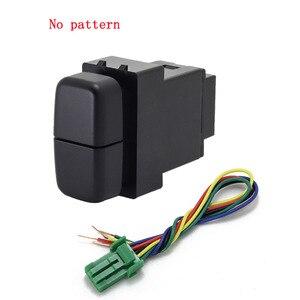 Image 3 - 1pc Dual schlüssel schalter dual schalter nebel licht recorder radar netzteil tagfahrlicht Schalter Taste für Mitsubishi lancerX
