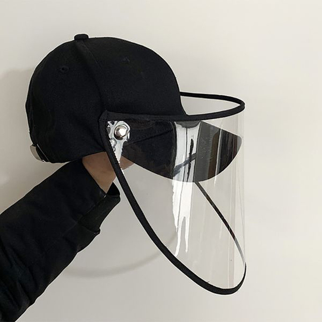 Eyes Protection Hat with Anti-saliva Face Cover Mask Baseball Cap Dustproof Protective Cap Adjustable Face Shield Safe Isolation 5