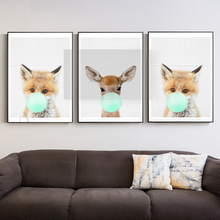 Lion Deer Fox Koala Owl Baby Animals Art Print Poster Safari Picture Canvas Painting Kids Room Nursery Wall Decor