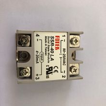 SSR40LA SSR-40LA 4-20mA Вход AC 24-380V 40A выход 1 фазный регулятор напряжения твердотельные реле SSR