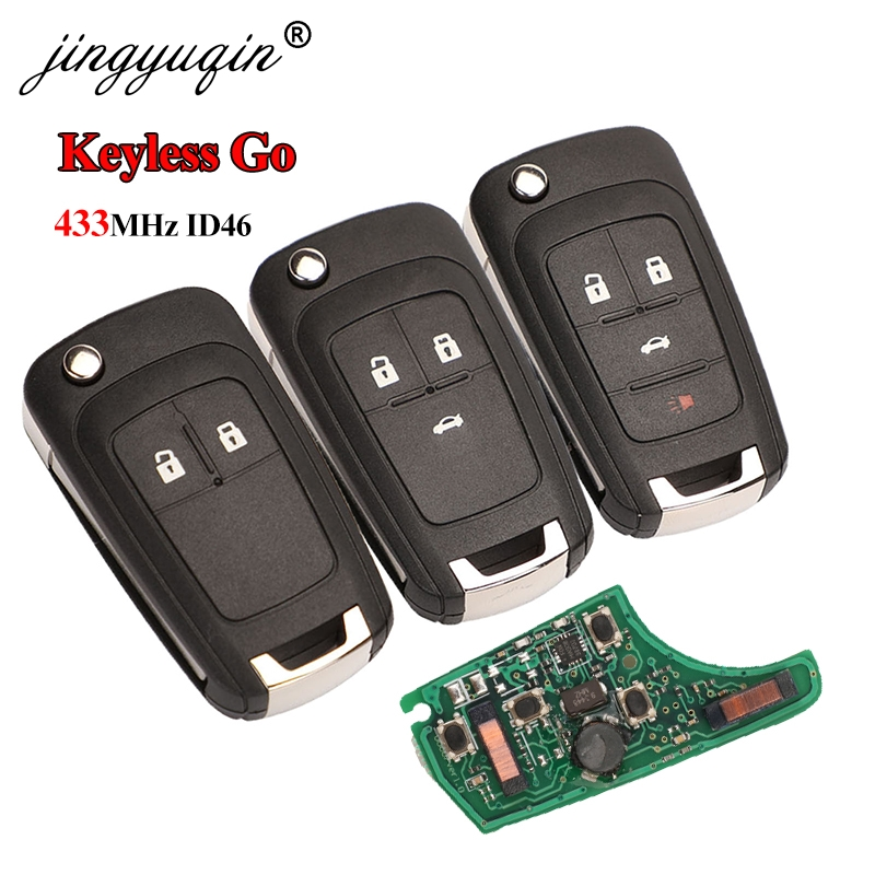 Смарт-ключ jingyuqin 433 МГц ID46 для Chevrolet Cruze Aveo Orlando Trax Lacrosse Encore Regal Verano 2/3/4B