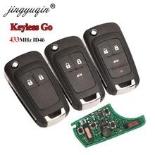 Jingyuqin 433mhz id46 chip keyless-go chave remota inteligente para chevrolet cruze aveo orlando trax lacrosse encore regal verano 2/3/4b