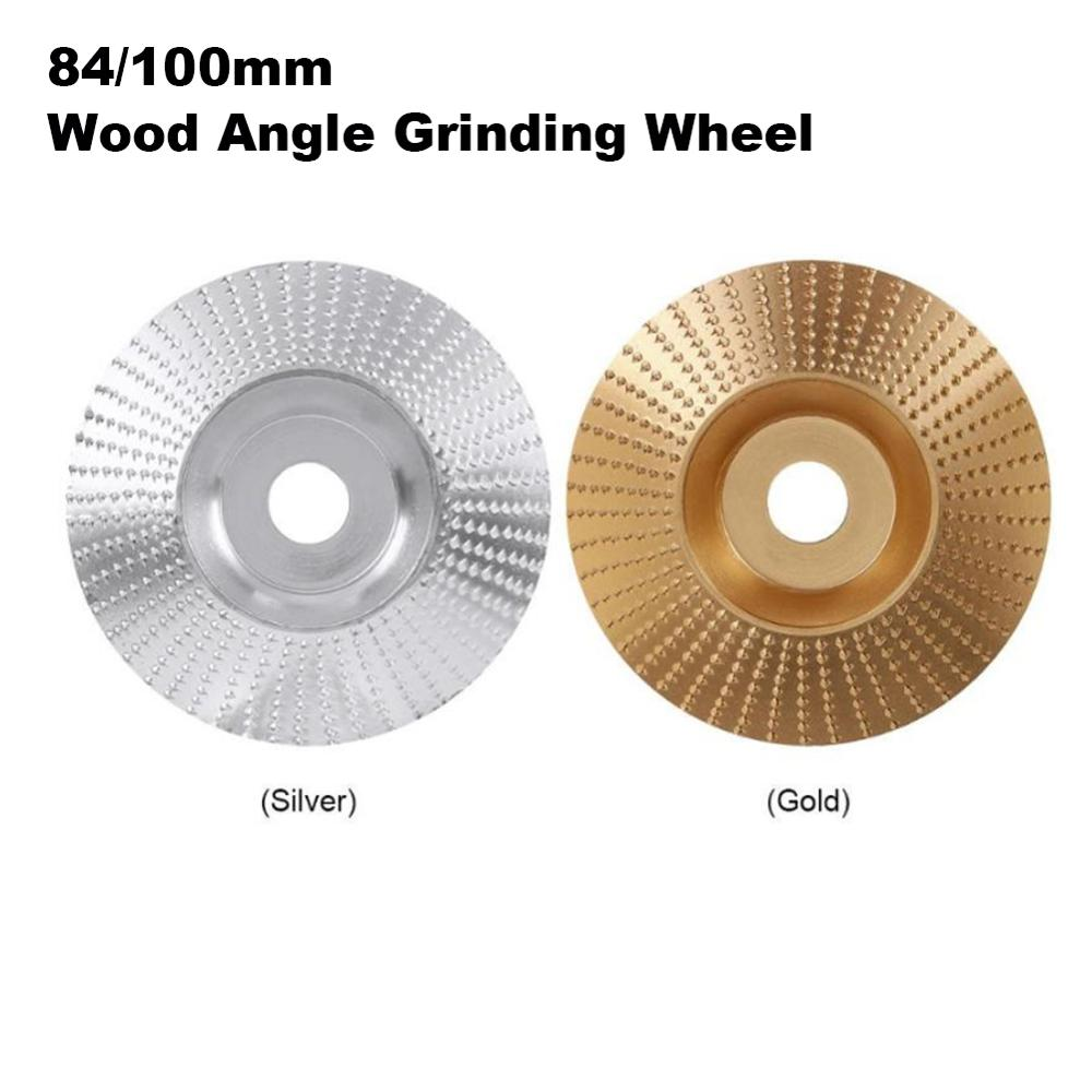 84/100mm Wood Angle Grinding Wheel Sanding Carving Rotary Tool Abrasive Disc Angle Grinder Tungsten Carbide Coating Bore Shapin