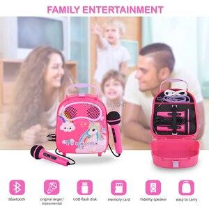 Máquina de música karaoke com microfone de brinquedo para cantar para crianças