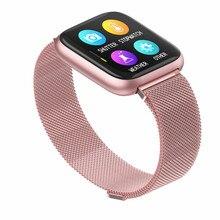 P6 Smart Horloge Mannen Vrouwen Smartwatch Waterdichte Fitness Tracker Armband Pk P70 P80 B57 Band