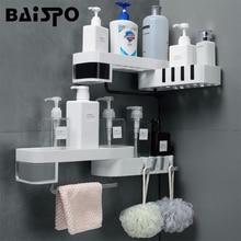 BAISPO Kreative Bad Regal Drehbare Lagerung Regal Für Wc Küche Startseite Organizer Mit Haken Bad Zubehör