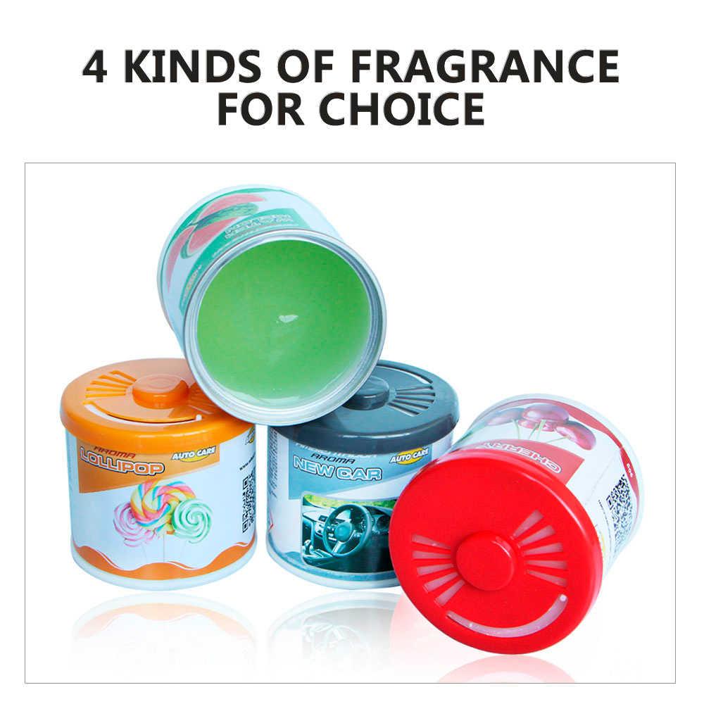 Kryty stałe puszki perfumy 90g Cherry nowy odświeżacz powietrza do samochodu zapach owoców toaleta wc dezodorant