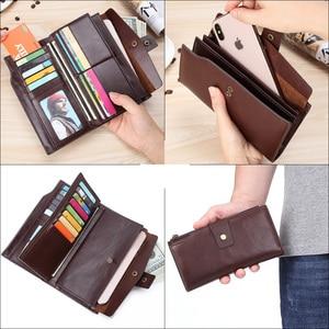 Image 5 - Flanker vintage คลัทช์ยาวกระเป๋าสตางค์หนังกระเป๋าสตางค์ซิปกระเป๋าธุรกิจชายเงินโทรศัพท์มือถือกระเป๋าถือ