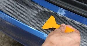 Image 3 - Rear Guard Plate Sticker Car Bumper for renault scenic cc chevrolet niva renault captur passat b4 skoda fabia bmw