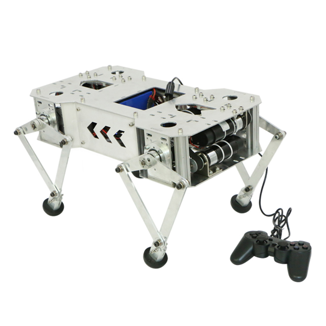 Programmable Metal Mechanical Dog Bionic Quadruped Crawling Robot Toy Brain Toy For Children Kids Educational Toys Birthday Gift