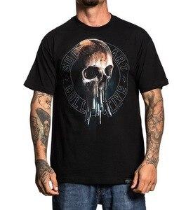 Sullen Art Collective Ulibarri, Черная кисть с черепом, тату, футболка, S-3xl, Uk, футболка, высокое качество