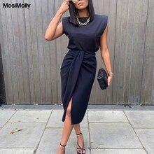 Dress Tee-Skirt Knot Streetwear Women Set 2pcs Club Bottom Vestidos Party Mosimolly Female