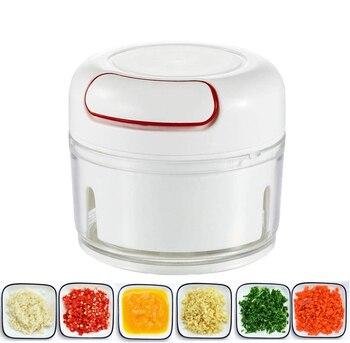 Minipicadora de ajo, Cortador Manual de alimentos, extractor Manual, procesador de alimentos, nueces y cortador de cebolla, prensa de ajo, picadora de verduras