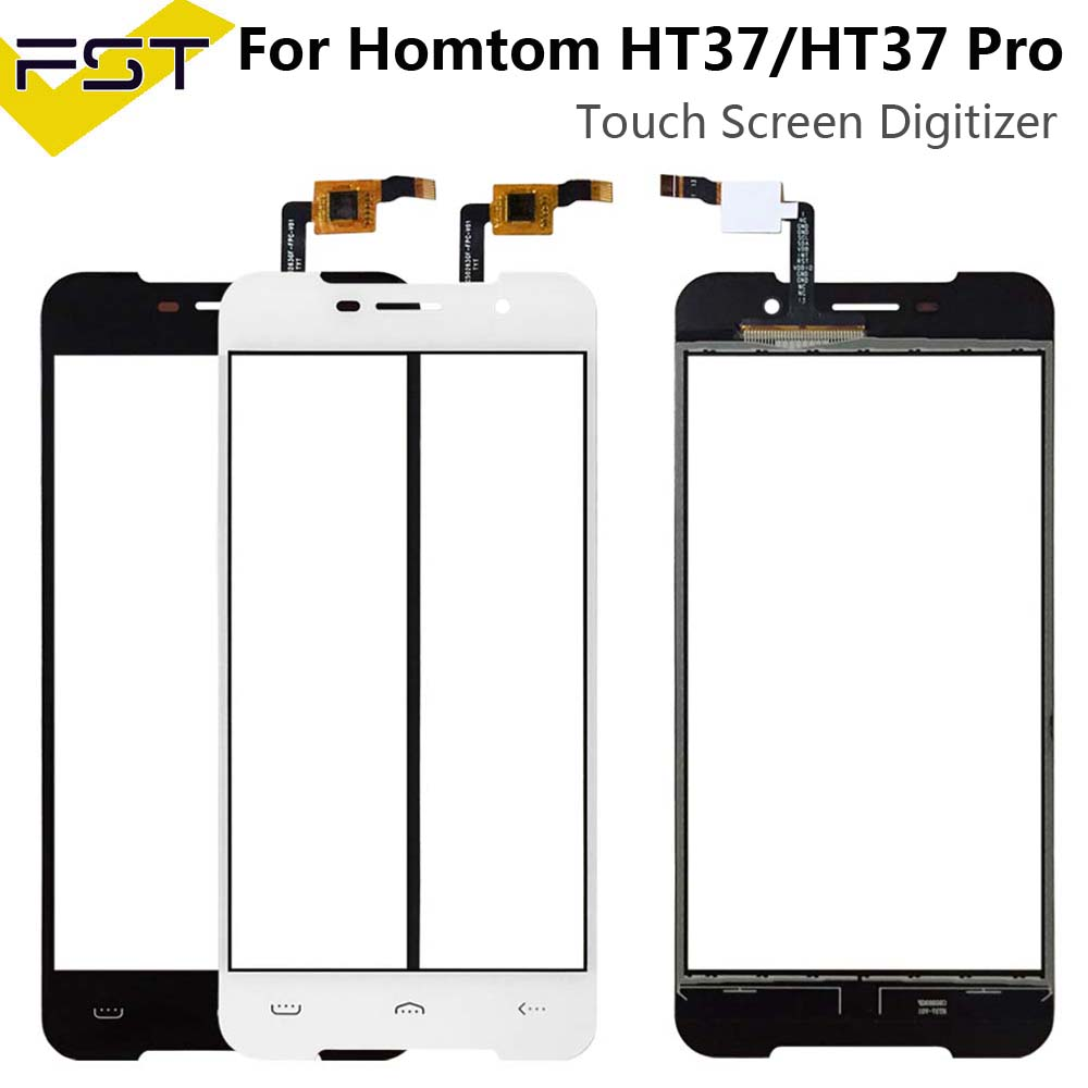 Black/White 5.0'' For HOMTOM HT37 Touch Screen Glass Panel Touch Screen For HT37 Pro Front Digitizer Sensor Lens + Tools