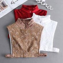 Chemise à Faux Col en dentelle pour femmes, couvre-cou, chemisier détachable, accessoires de vêtements