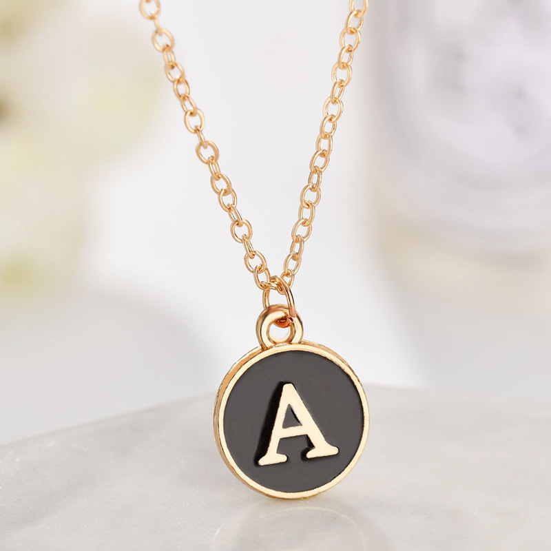 2019 26 English Letters Chain Time-limited Choker Collares Moana Necklace Pendant Women Necklaces Kettingen Chains Wholesale