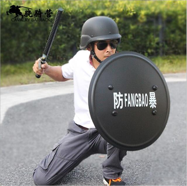 Hand-held Shield Aluminium Alloy Anti Riot Prevention Security Patrol Tactical Protection Training High Quality Shield 2