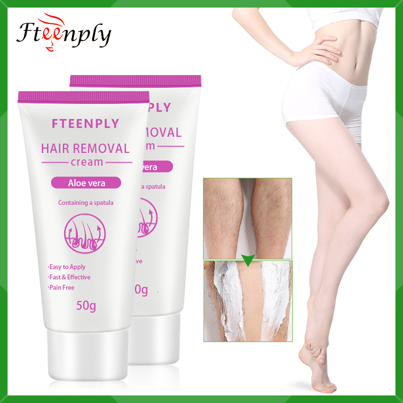 FTEENPLY Hair Removal Cream Painless Depilation Armpit Legs Natural Aloe Vera Depilatory Protracted Smooth 2PCS