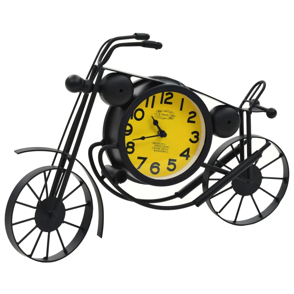 VidaXL Vintage Retro-Style Motorcycle Wall Clock Time Clocks House Motorbike Wall Art Decor Clock V3