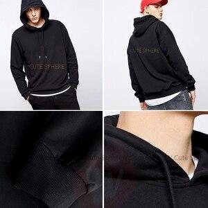 Image 5 - Zwarte Klaver Hoodie Zwart Clover Black Bulls Hoodies Outdoor Katoen Pullover Mannen Warm Blauw Grote Lange Lengte Hoodies