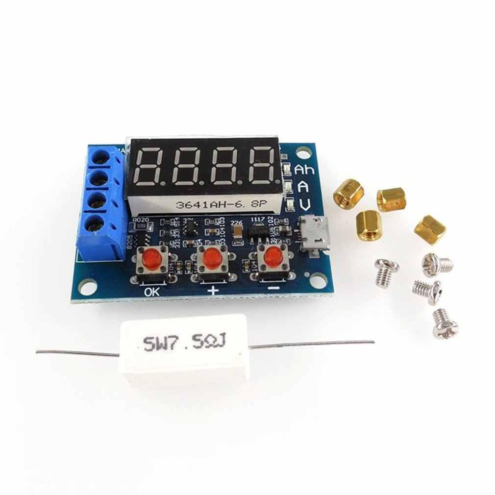 وحدة اختبار قدرة بطارية الطاقة LED الليثيوم أيون الرقمية 18650 الخارجية تحميل البطارية التفريغ اختبار محلل المجلس