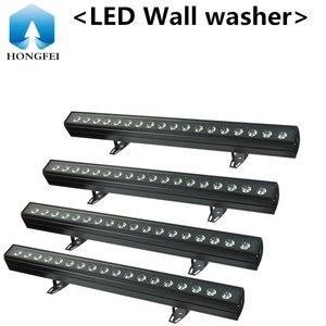 4 шт/4-в-1 18x12 Вт led Par Светильник 18x18 Вт 6-in-1led стены шайба сценический dmx светодиодный диско-лампа