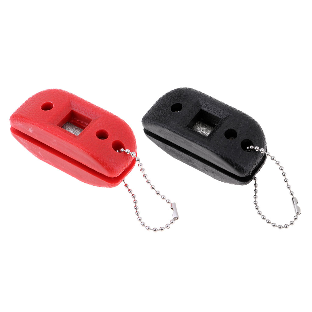 2Pieces Compact Skate Blade Sharpener With Carry Pouch Perfect For Hockey Player/Avid Skater