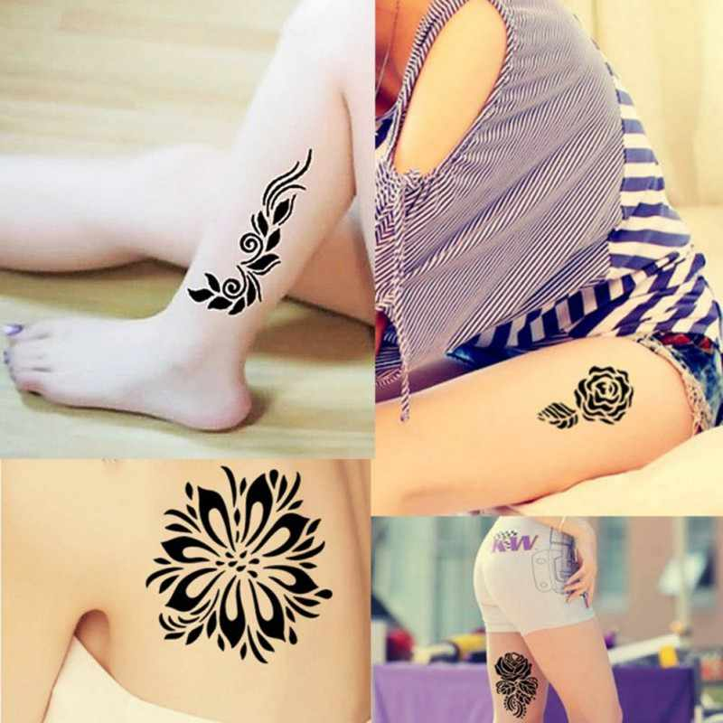 New black brown red white henna cone Indian henna stickers temporary body art stickers Man Heidi body painting