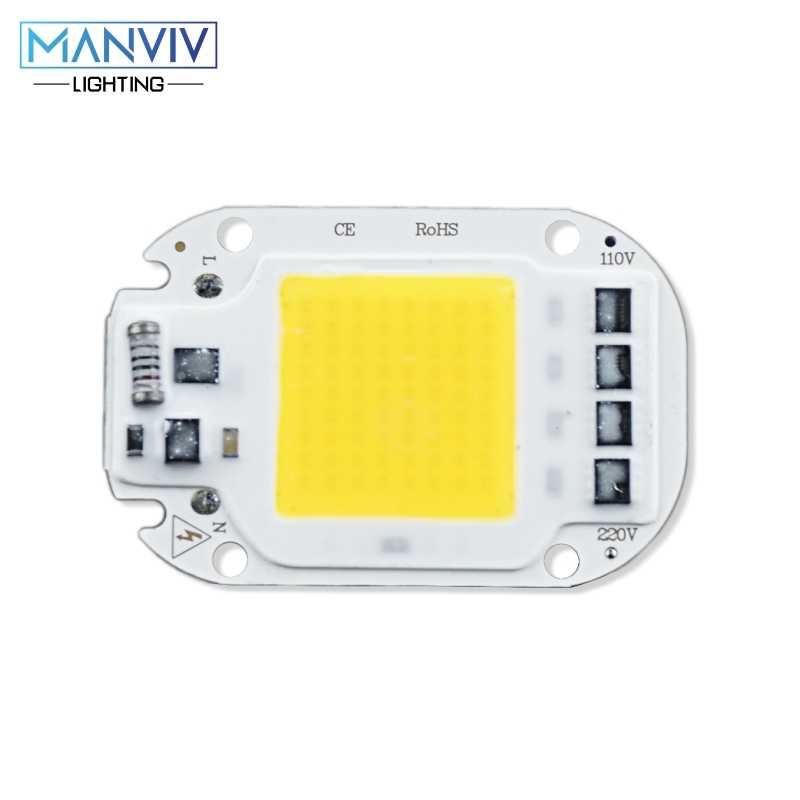 LED COB Chip 20W 30W 50W 110V 220V inteligentny IC nie ma potrzeby sterownik LED światła DIY lampa z żarówką LED na światło halogenowe Spotlight oświetlenie domu