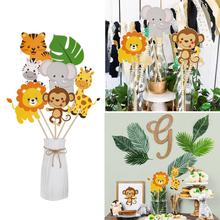 цена на PATIMATE Jungle Animal Vase Topper Jungle Party Decoration Safari Party Supplies Safari Birthday Party Decor Kids Baby Shower